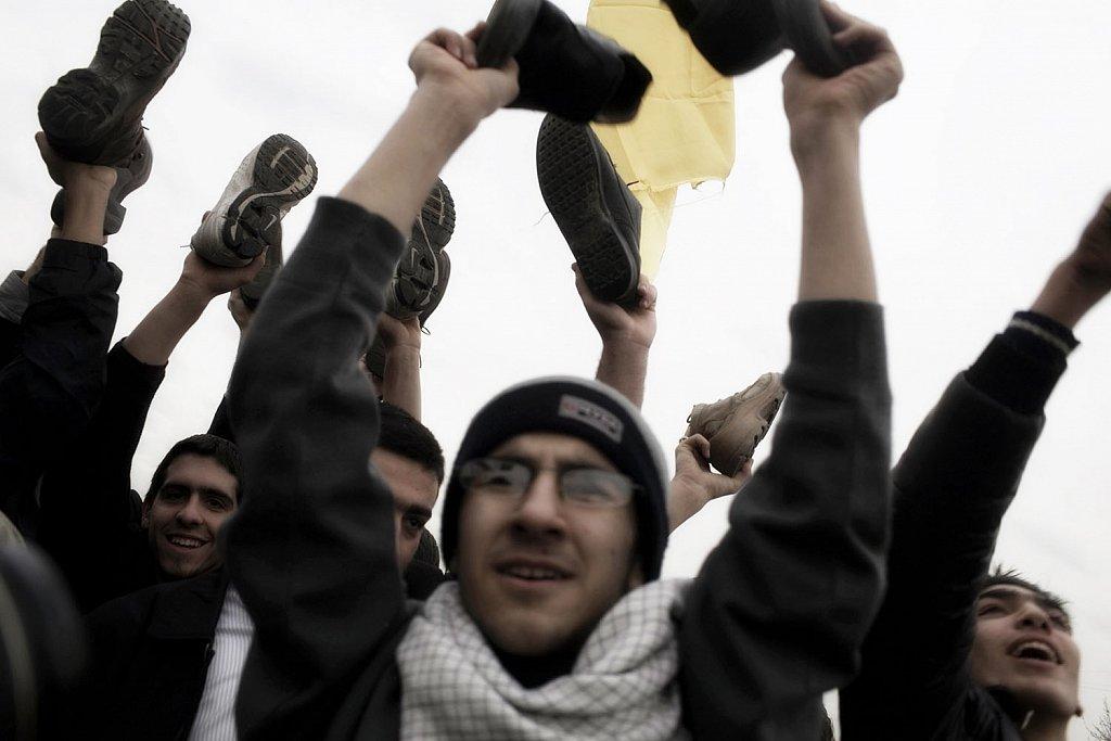 Tehran. People celebrates the 30 anniversary of the Islamic Revo
